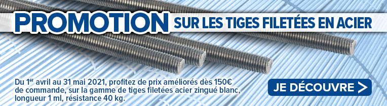 PROMOTION sur les tiges filetées en acier