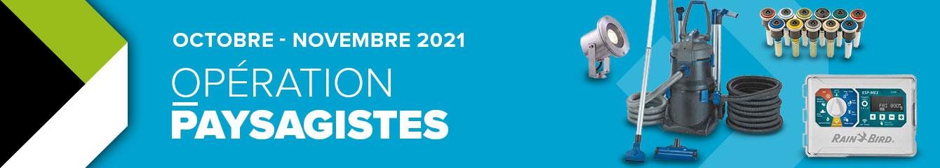 OPÉRATION PAYSAGISTES | OCTOBRE 2021