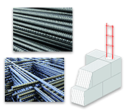 Fournitures professionnelles entreprises de bâtiment - aciers et produits pour béton armé - maçonnerie