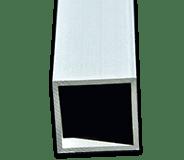 Tube carré en aluminium - Fournitures professionnelles pour serrurier-métallier