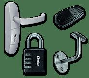 Quincaillerie de bâtiment - Fournitures professionnelles : cadenas, cylindres, serrures, verrous