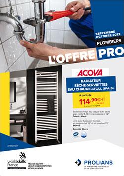 L'offre PRO Plombiers   Septembre - Octobre 2021